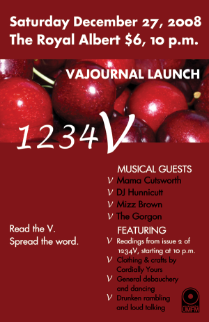 1234V Launch Party Poster